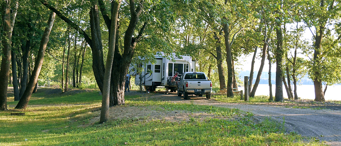 Waterfront Campsite at MillPoint RV Park